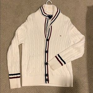 TOMMY HILFIGER  BUTTON UP CABLE CARDIGAN